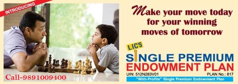 LIC सिंगल प्रीमियम एंडोवमेंट योजना 817 हिंदी में