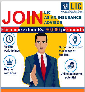 LIC agent vacancy in delhi